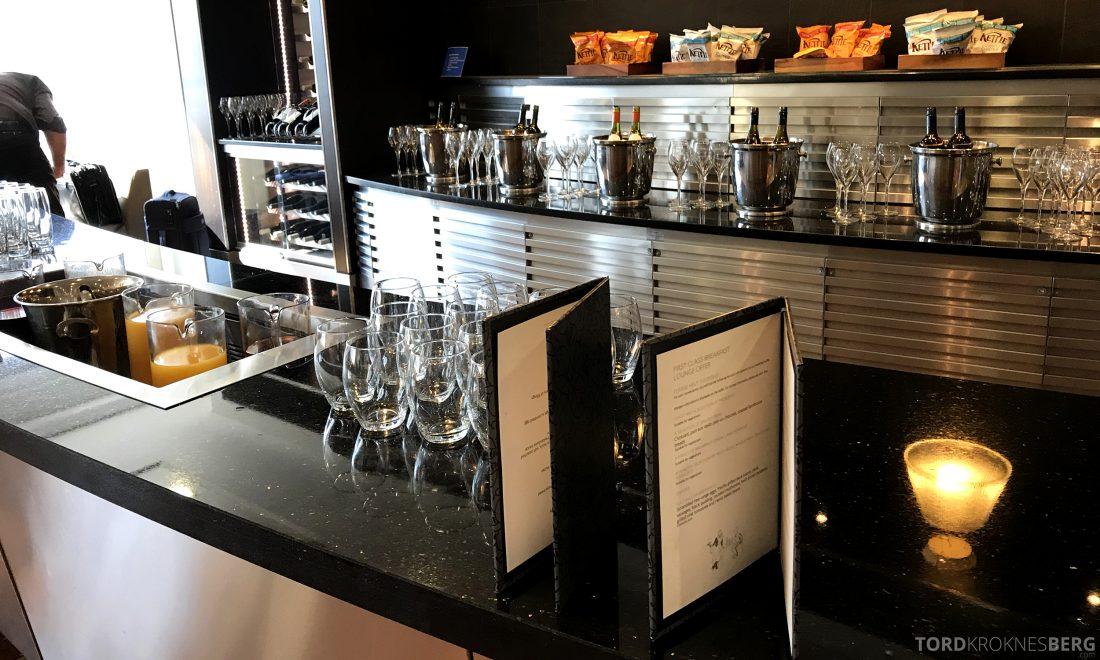 British Airways Galleries First Lounge Heathrow drikkebuffet