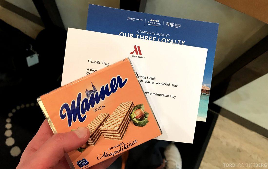 Marriott Vienna Hotel velkomstgave