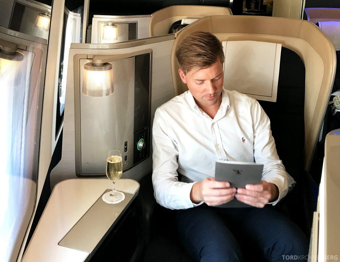 British Airways First Class London Miami Tord Kroknes Berg