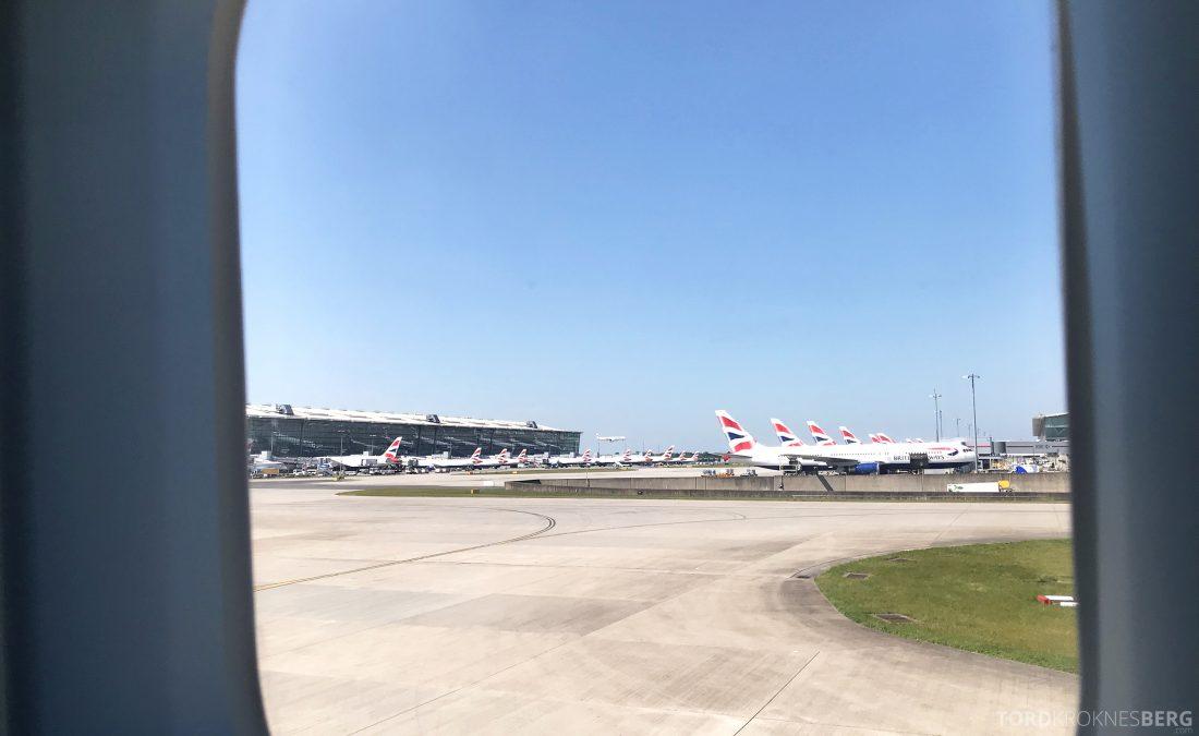British Airways First Class London Miami adjø