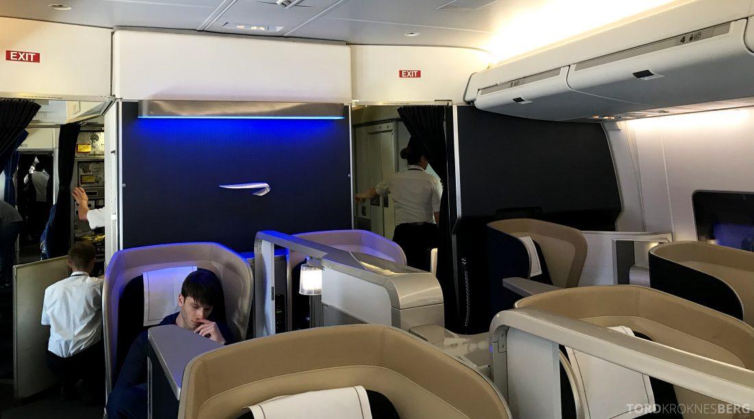 British Airways First Class London Miami kabin