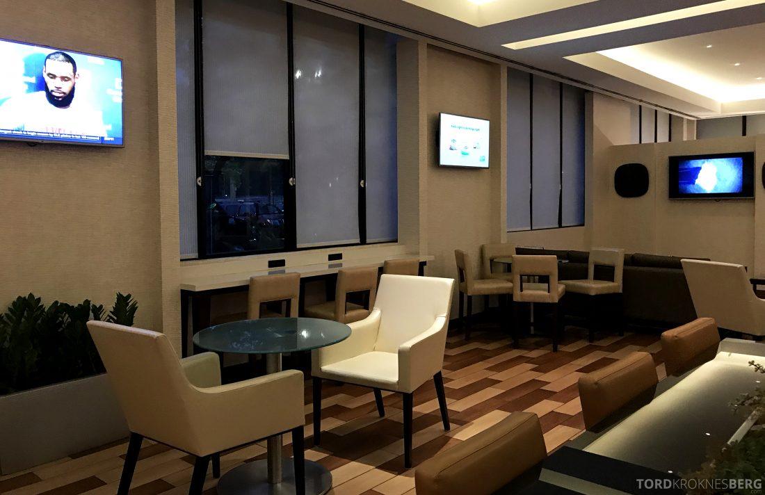 Miami Airport Marriott Hotel M Club Lounge sitteplasser