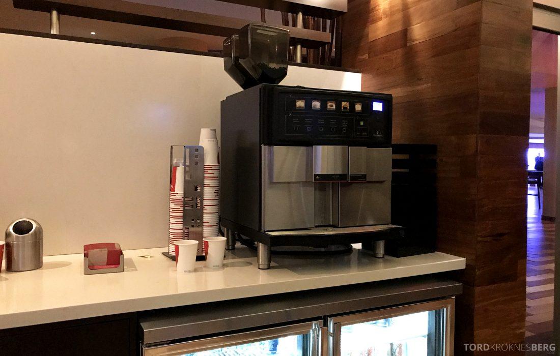 Miami Airport Marriott Hotel M Club Lounge kaffemaskin