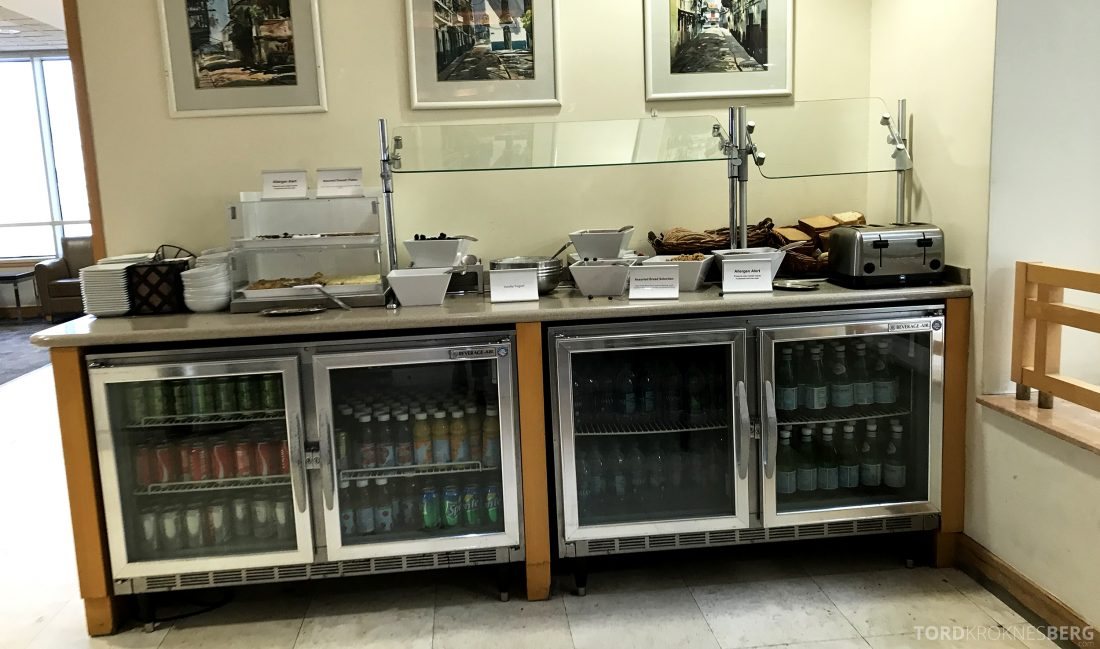 American Airlines Premium Lounge Miami buffet 2