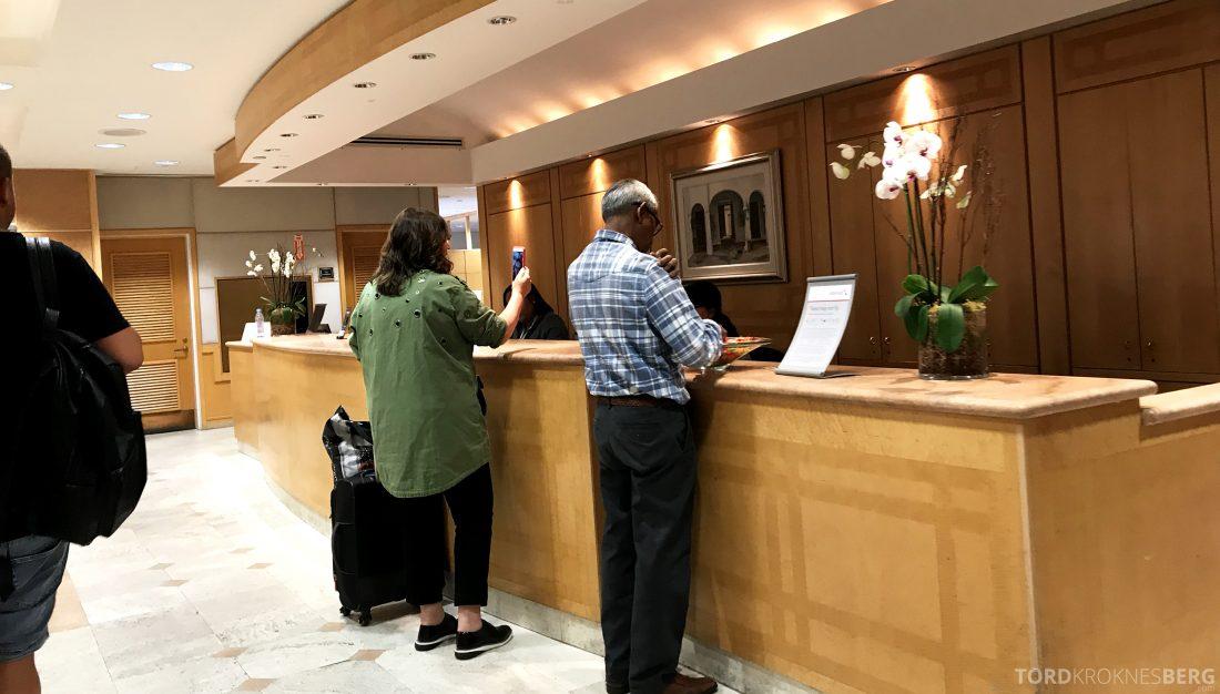 American Airlines Premium Lounge Miami resepsjon