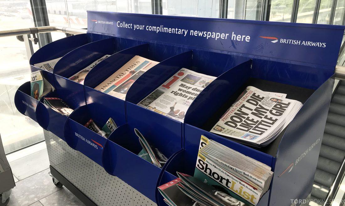 British Airways Business Class London Oslo aviser