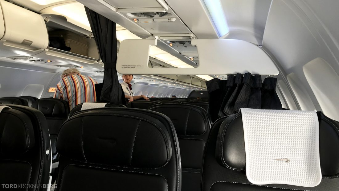 British Airways Business Class London Oslo forheng