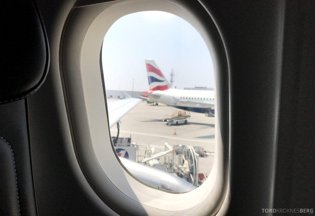British Airways Business Class London Oslo adjø