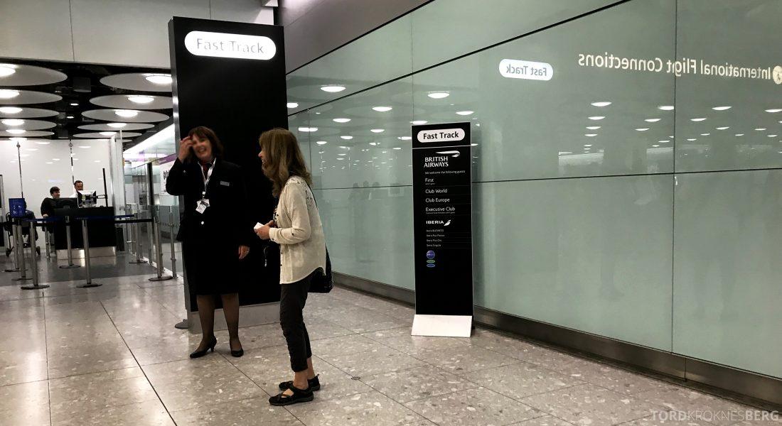 British Airways Concorde Room London fast track