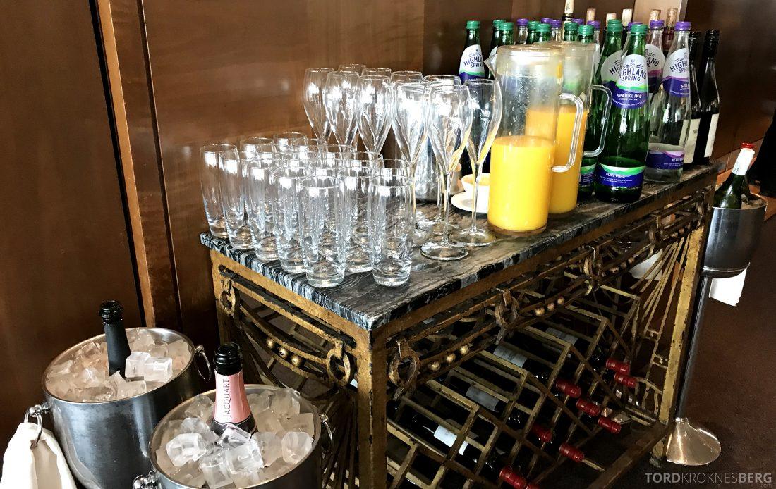 British Airways Concorde Room London drikke