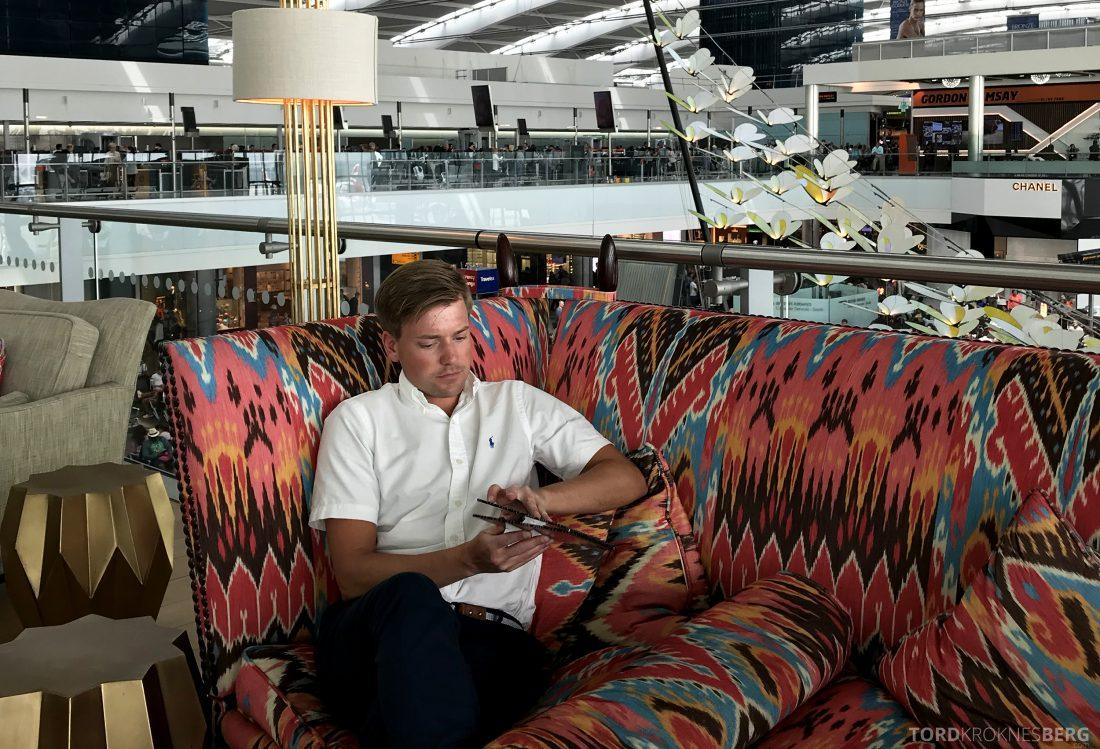 British Airways Concorde Room London Tord Kroknes Berg meny