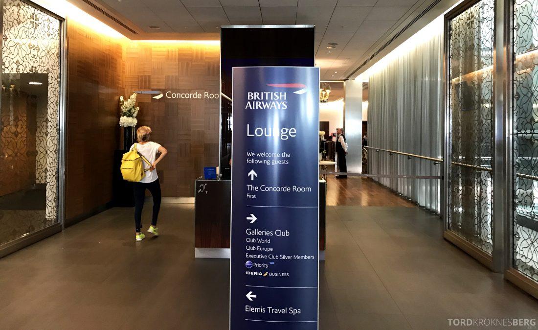 British Airways Concorde Room London inngang
