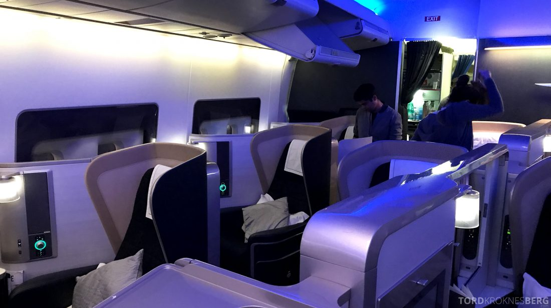 British Airways First Class Miami London kabin