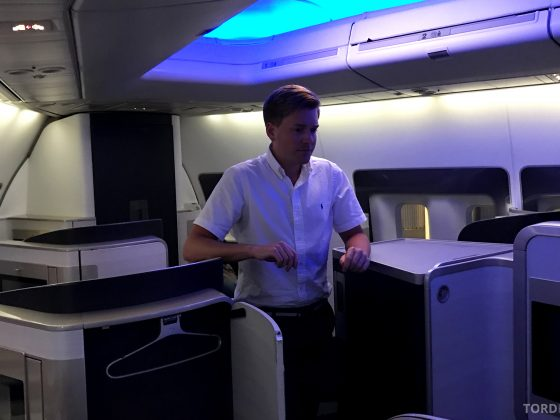 British Airways First Class Miami London Tord Kroknes Berg kabin