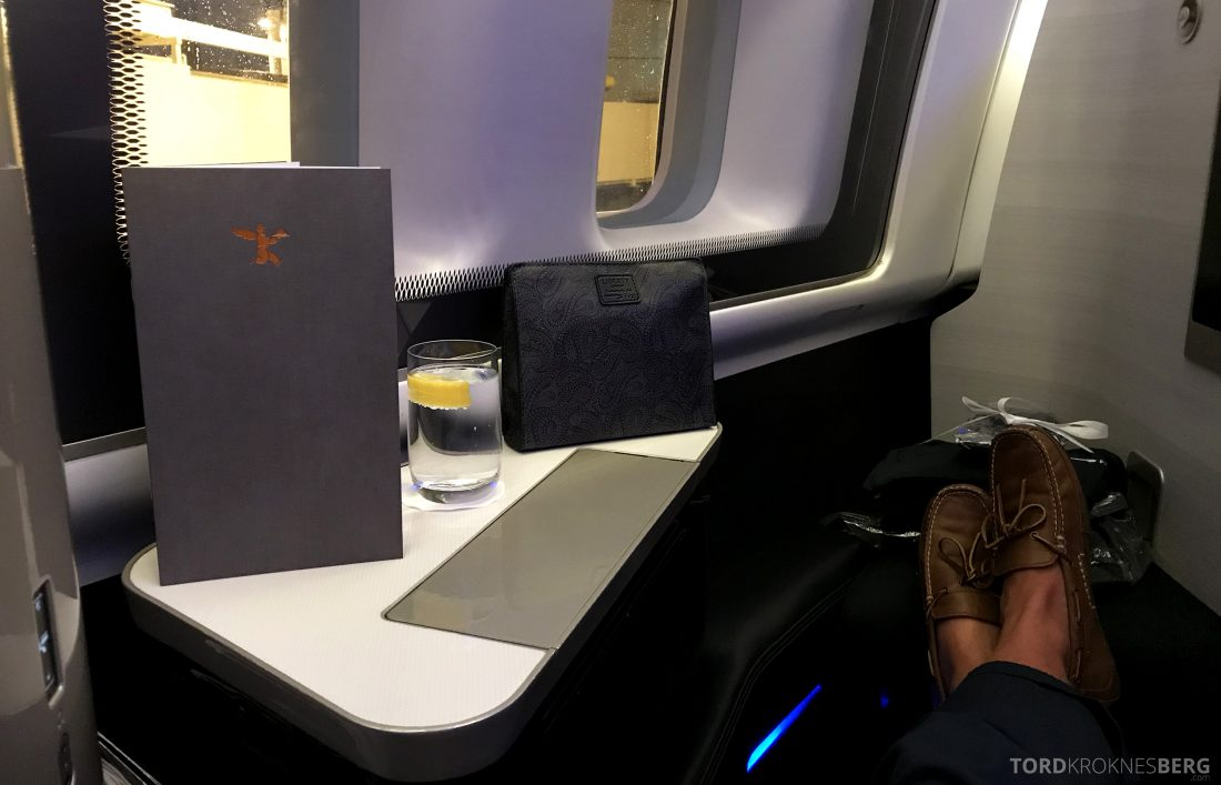British Airways First Class Miami London velkomst