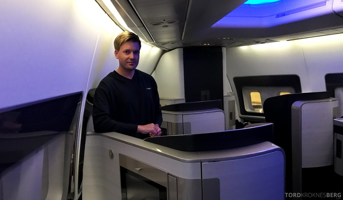 British Airways First Class Miami London kabin Tord Kroknes Berg pysh