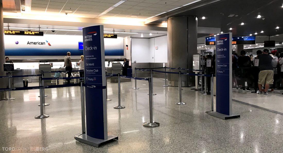 British Airways First Class Miami London innsjekk