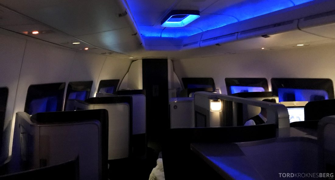 British Airways First Class Miami London natt