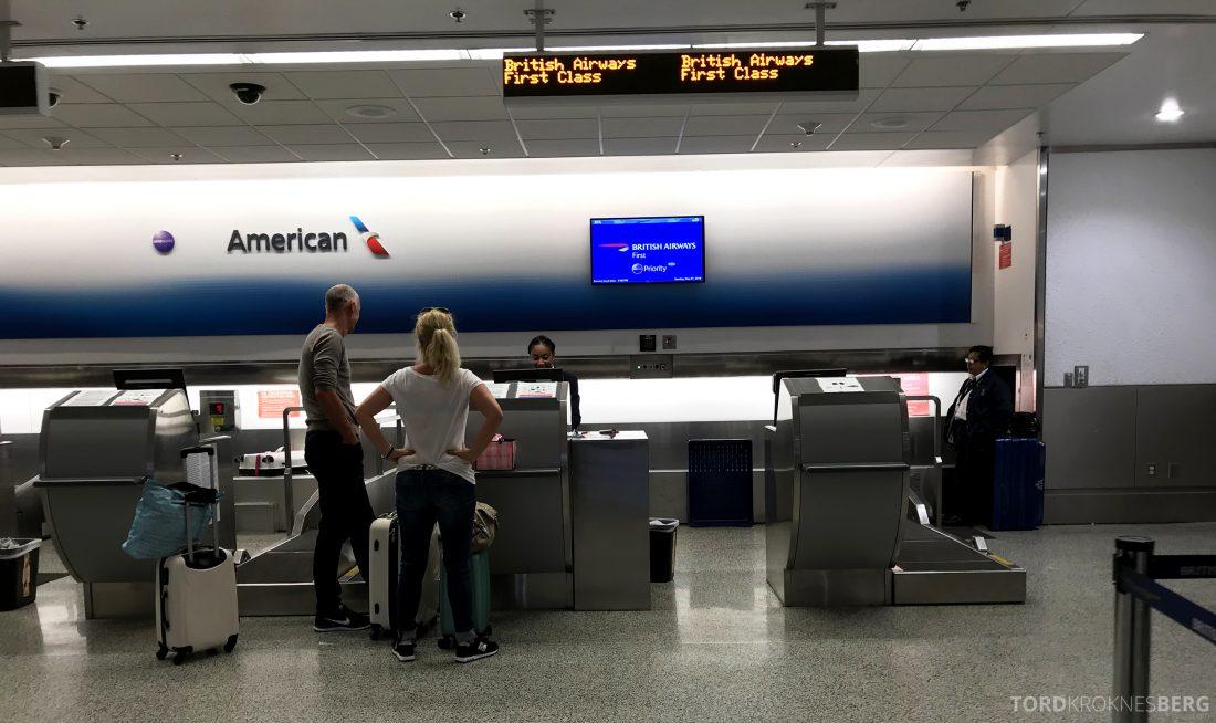 British Airways First Class Miami London innsjekk 2