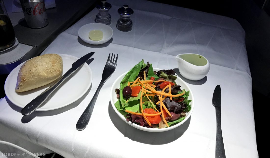 British Airways First Class Miami London salat forrett