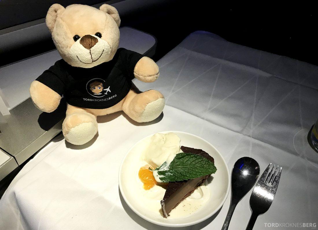 British Airways First Class Miami London reisefølget kake