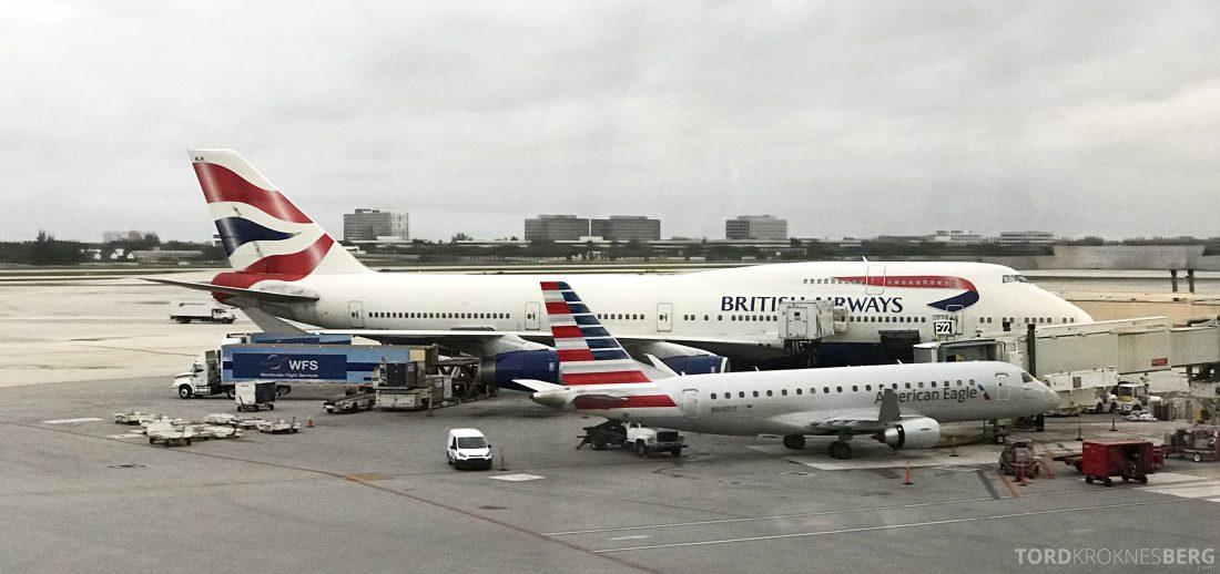 British Airways First Class Miami London flyvemaskinen
