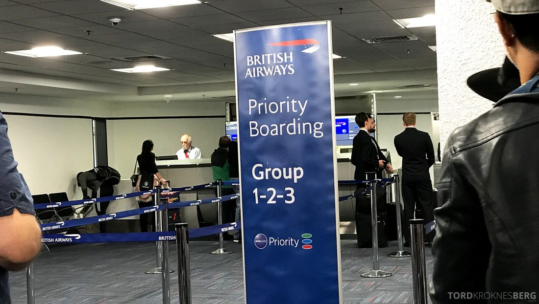 British Airways First Class Miami London boarding