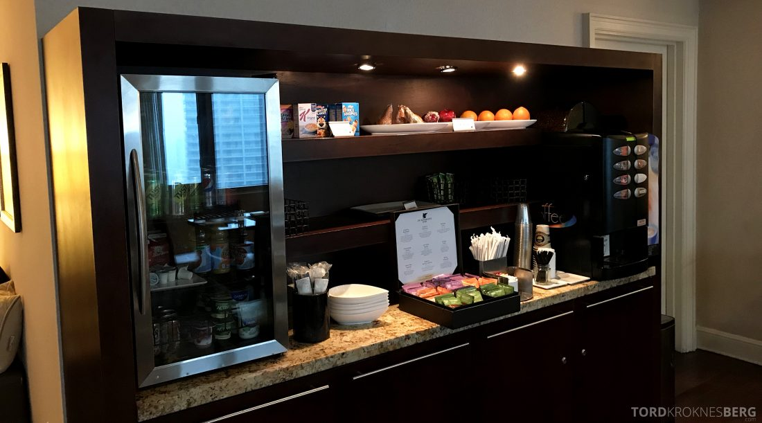 JW Marriott Miami Hotel Executive Lounge snackbar