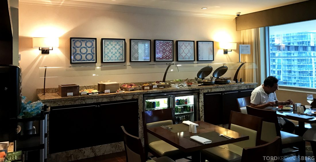 JW Marriott Miami Hotel Executive Lounge hors d'oeuvre buffet