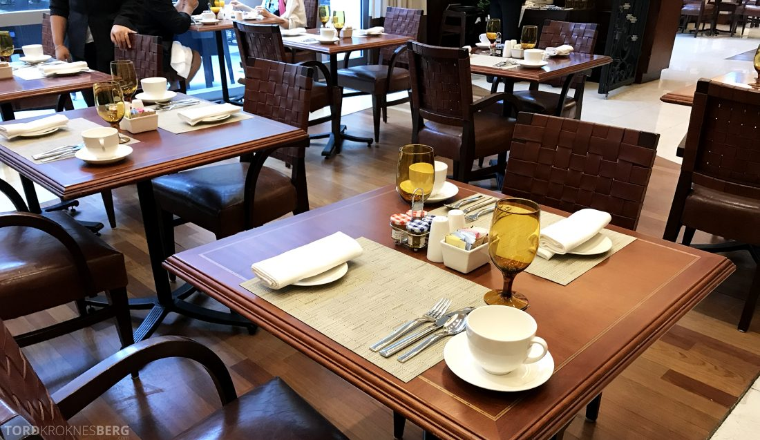 JW Marriott Miami Hotel frokostbord