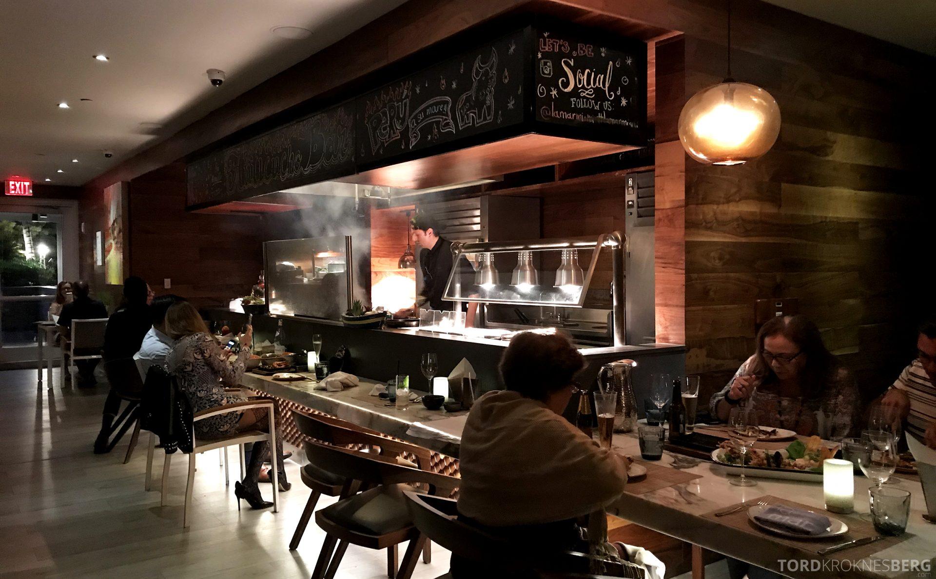 La Mar Restaurant Miami Mandarin Oriental Hotel kjøkken