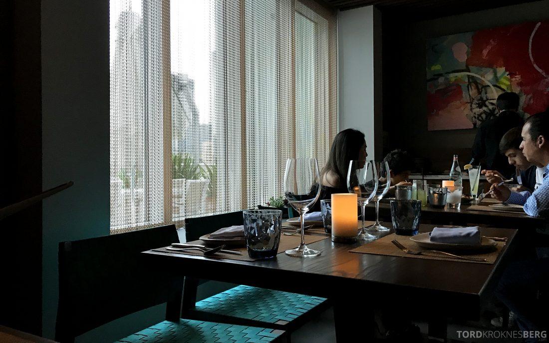 La Mar Restaurant Miami Mandarin Oriental Hotel bord