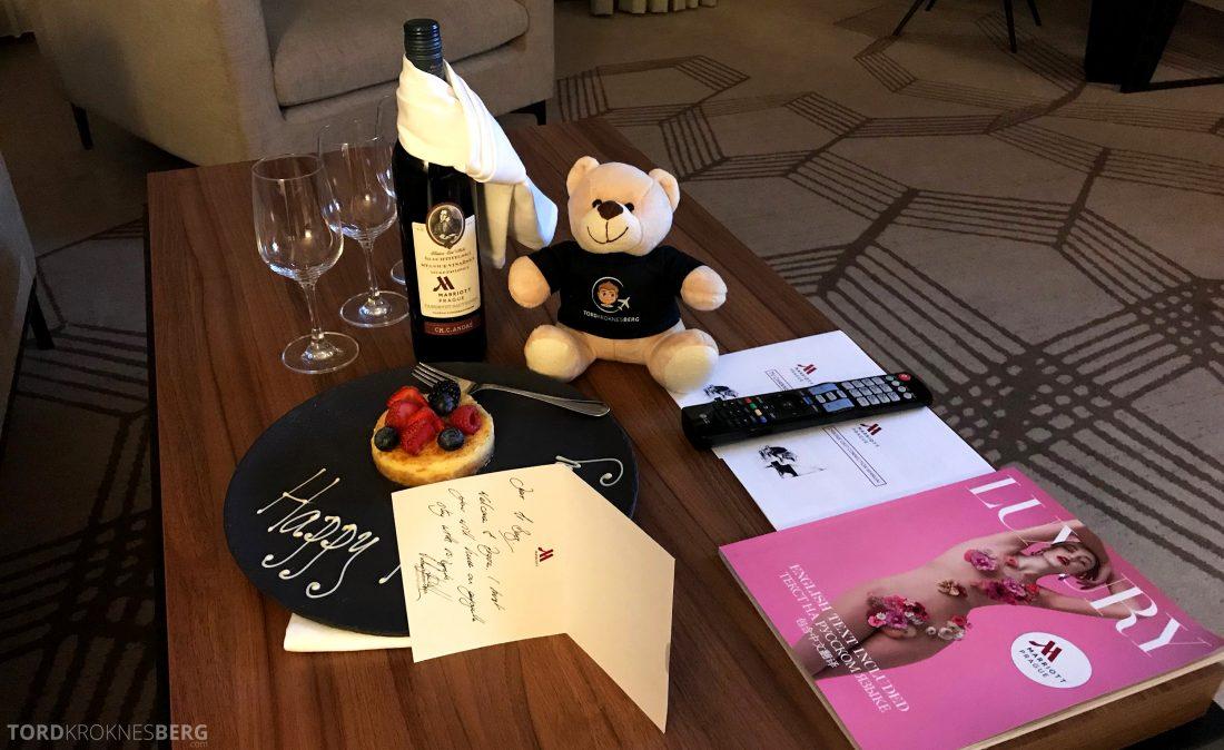 Marriott Prague Hotel velkomstgave
