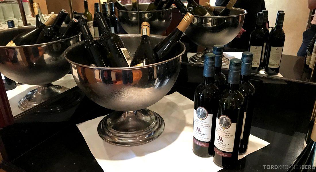 Marriott Prague Hotel Executive Lounge hors d'oeuvre vin