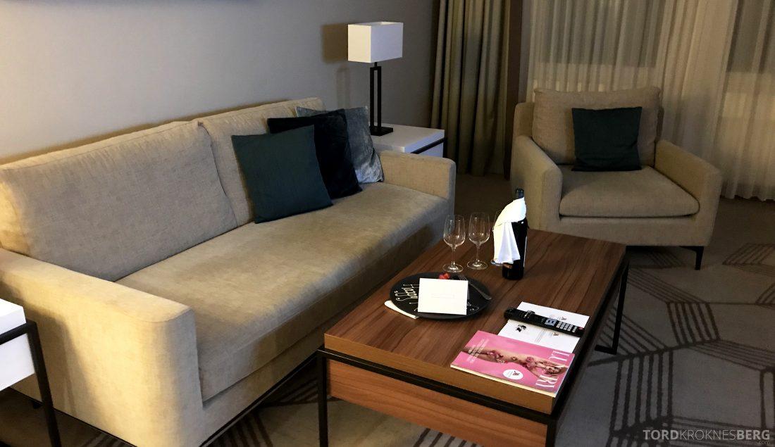 Marriott Prague Hotel suite sofa