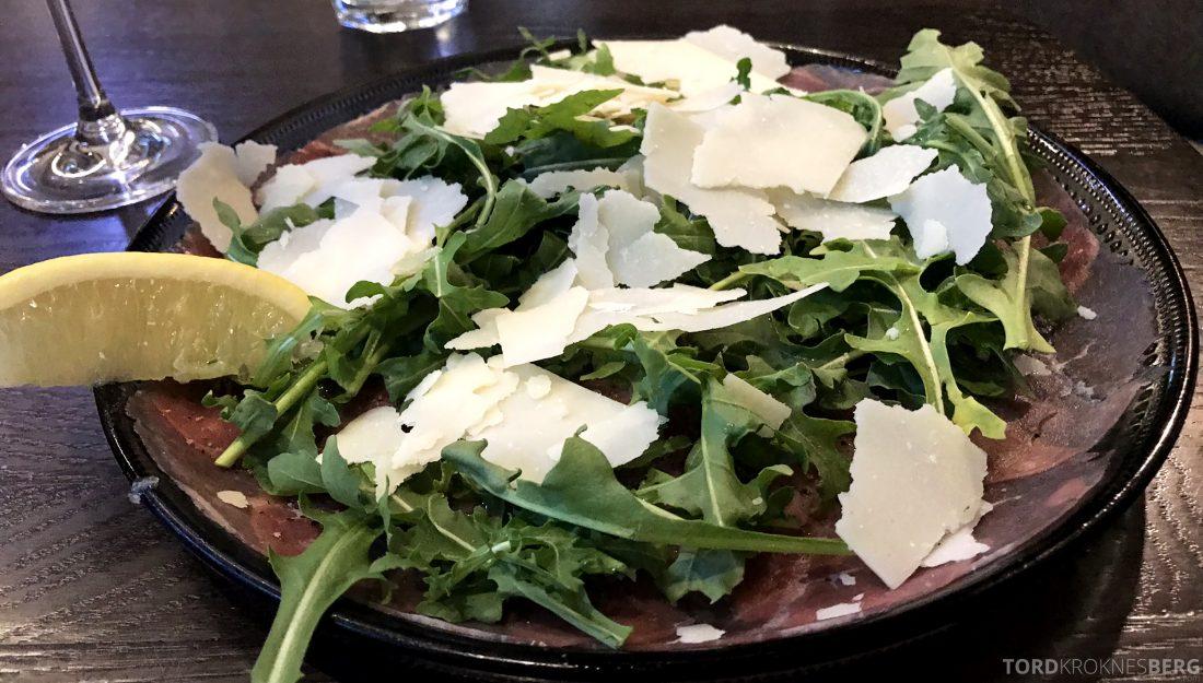Restaurant Bella Bambina Oslo carpaccio