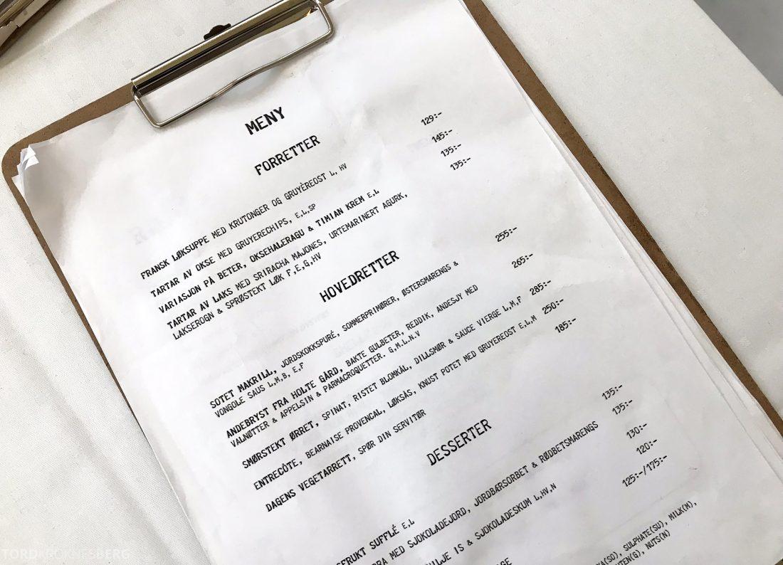 Restaurant Rodins Bistro Oslo meny