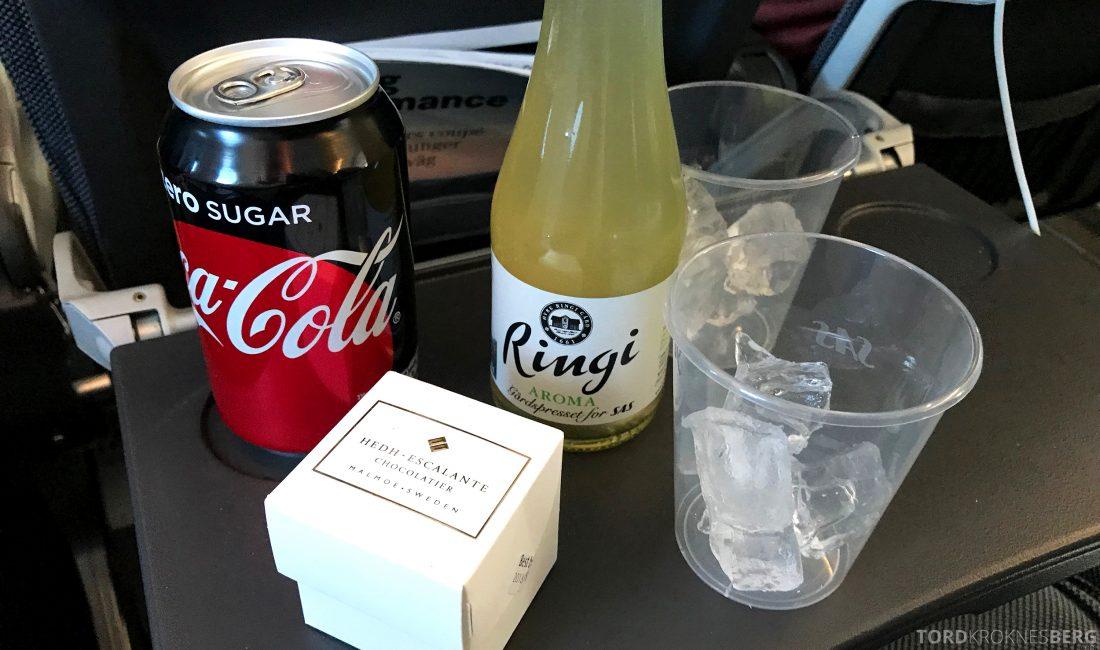 SAS Plus Oslo Praha drikke