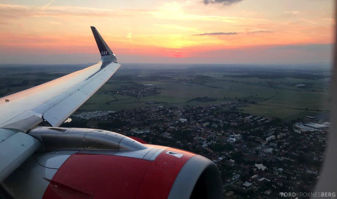 SAS Plus Oslo Praha landing
