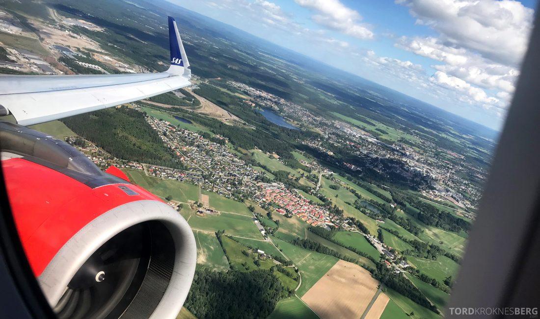 SAS Plus Oslo Praha utsikt