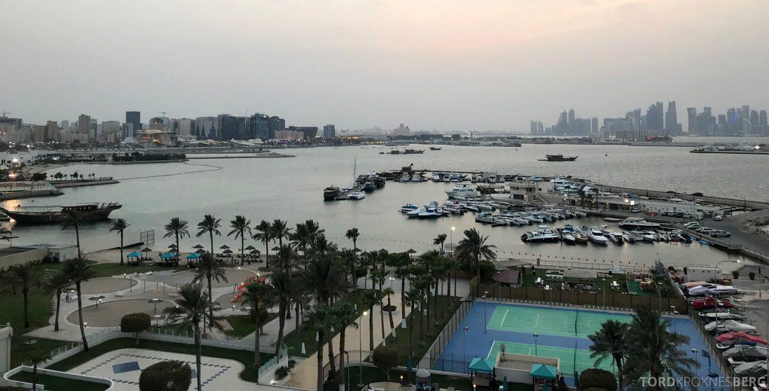 Marriott Doha Hotel Executive Lounge utsikt