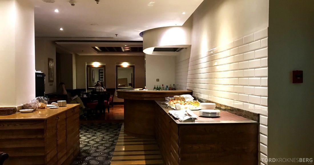 Marriott Doha Hotel Executive Lounge buffetområde