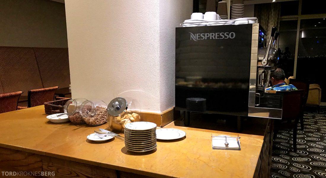 Marriott Doha Hotel Executive Lounge kaffemaskin