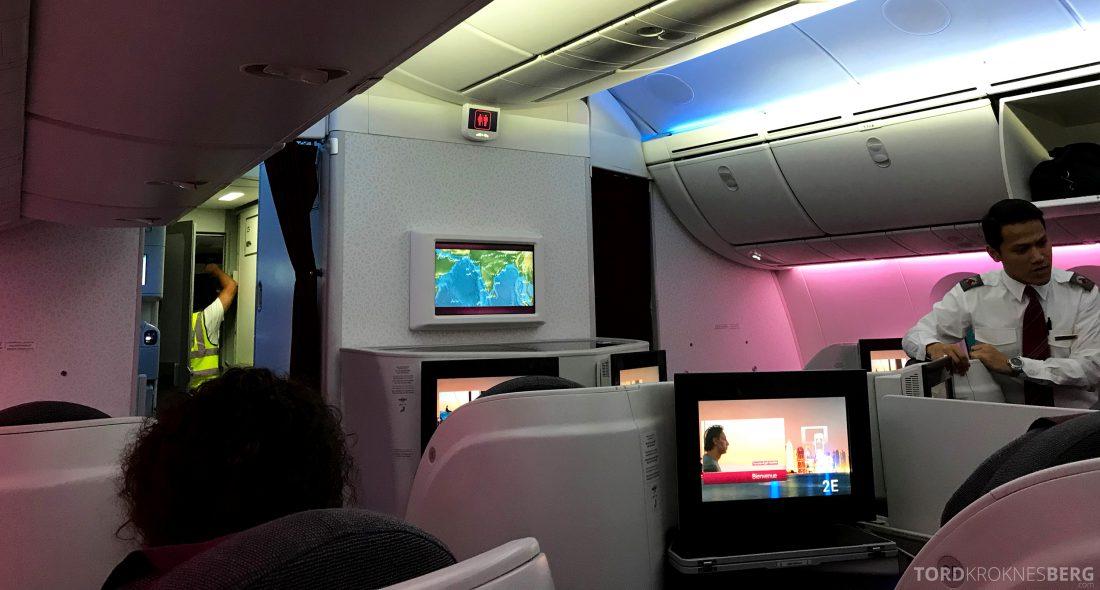 Qatar Airways Business Class Doha Penang kabin
