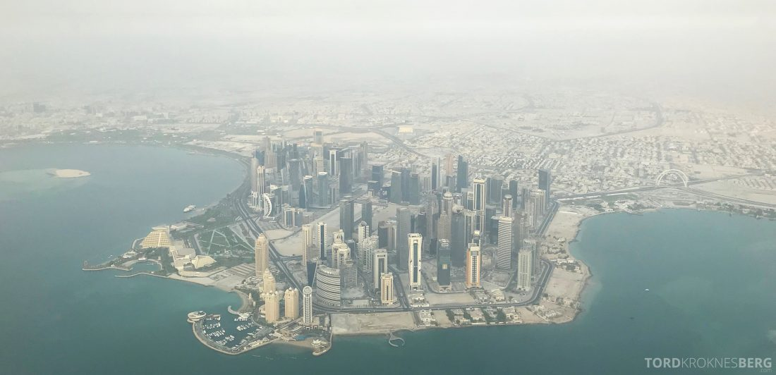 Qatar Airways Business Class Doha Penang utsikt