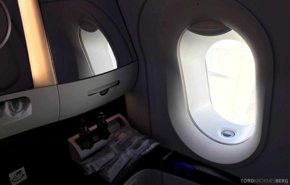 Qatar Airways Business Class Doha Penang utsikt toalett