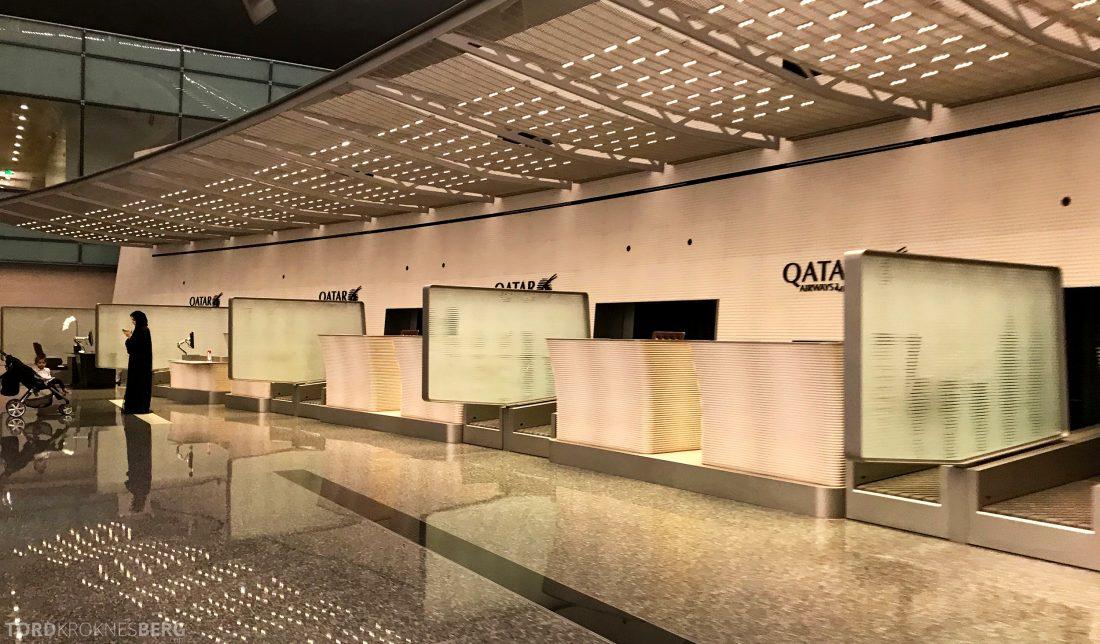 Qatar Airways Business Class Doha Penang innsjekk