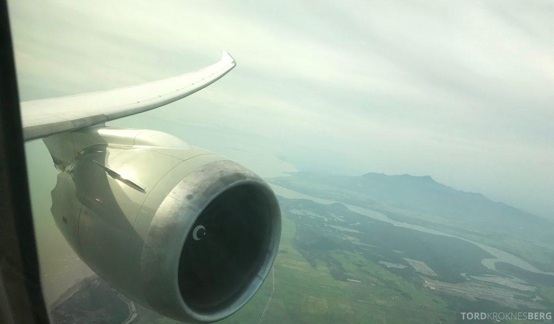 Qatar Airways Business Class Doha Penang landing