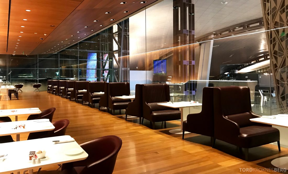 Qatar Airways Al Mourjan Business Class Lounge Doha sitteplasser