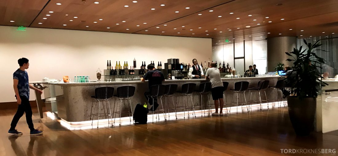 Qatar Airways Al Mourjan Business Class Lounge Doha bar